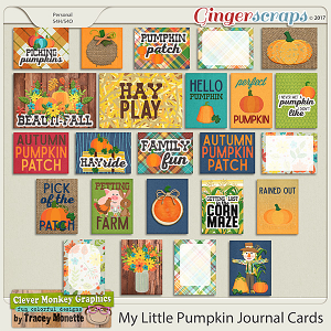 My Little Pumpkin Journal Cards by Clever Monkey Graphics