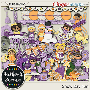 Snow Day Fun ELEMENTS by Heather Z Scraps