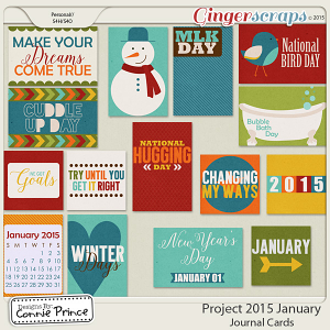 Project 2015 January - Journal Cards