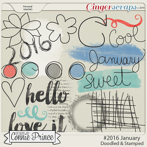 #2016 January - Doodles & Stamps
