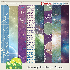 Among The Stars Papers by Key Lime Digi Design