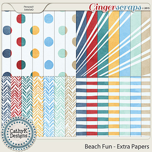 Beach Fun - Extra Papers