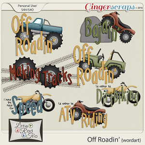 Off Roadin {Word Art} by Little Rad Trio