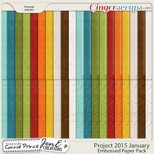 Project 2015 January - Embossed Papers