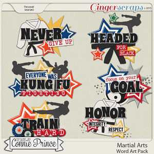 Martial Arts - Word Art