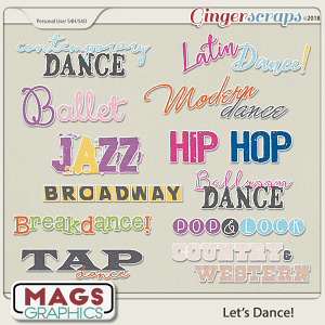 Let's Dance TITLES by MagsGraphics