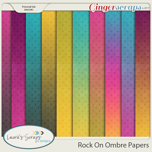 Rock On Ombre Papers