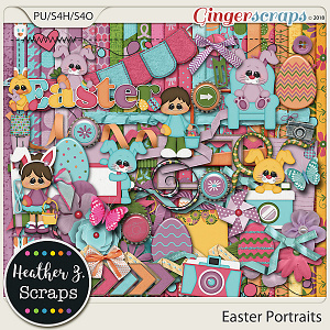 Easter Portraits KIT by Heather Z Scraps