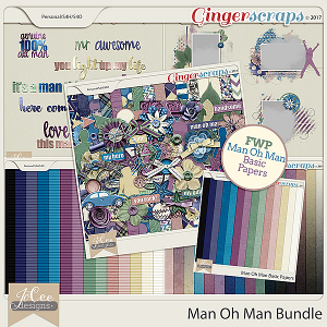 Man Oh Man Bundle with FREE WITH PURCHASE by JoCee Designs