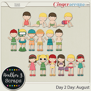 Day 2 Day: August KIDS by Heather Z Scraps