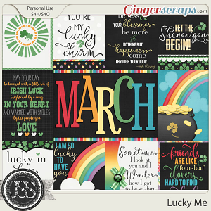Lucky Me Pocket and Journal Scrap Cards