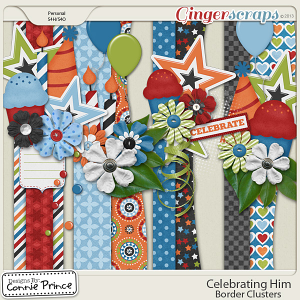 Celebrating Him - Border Clusters