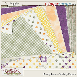 Bunny Love Shabby Papers