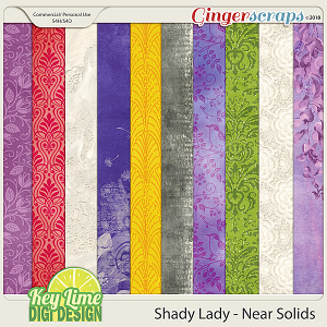 Shady Lady SemiSolid Papers by Key Lime Digi Design