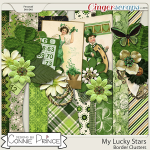My Lucky Stars - Border Clusters by Connie Prince