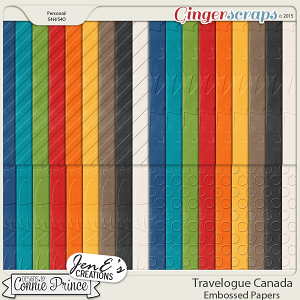 Travelogue Canada  - Embossed Papers Pack