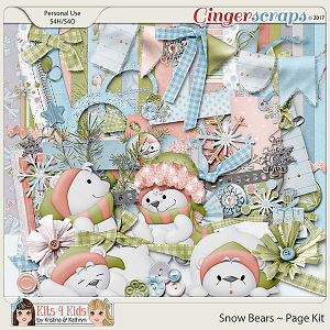 Snow Bears Page Kit