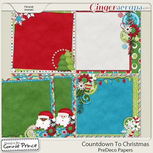 Countdown To Christmas - PreDeco Papers