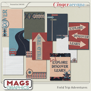 Field Trip Adventures JOURNAL CARDS by MagsGraphics