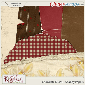 Chocolate Kisses Shabby Papers