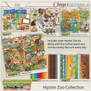 Hipster Zoo Bundle by Clever Monkey Graphics
