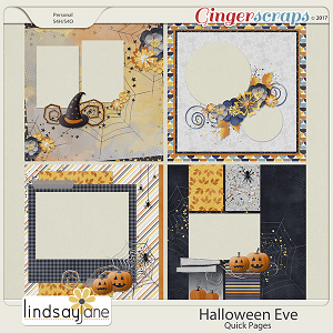 Halloween Eve Quick Pages by Lindsay Jane