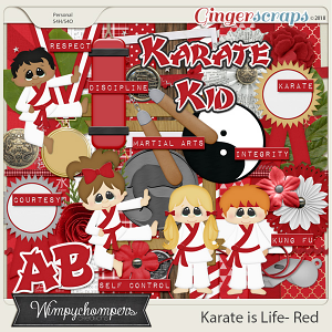 Karate is Life- Red
