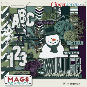 Wintergreen KIT & ALPHA by MagsGraphics