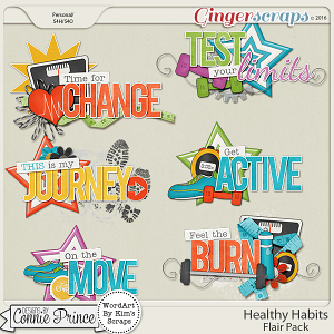 Healthy Habits - WordArt Pack