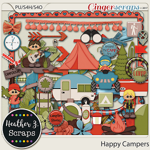 Happy Campers ELEMENTS by Heather Z Scraps