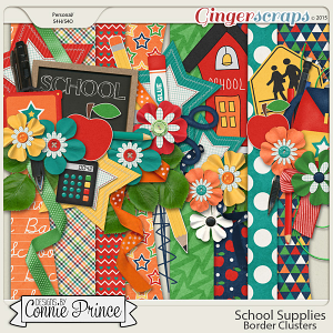 School Supplies - Border Clusters