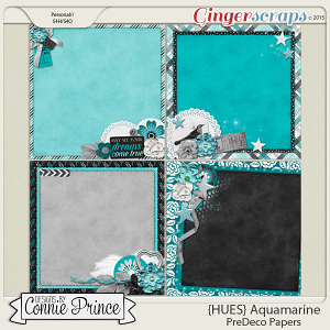 {HUES} Aquamarine - PreDeco Papers