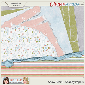 Snow Bears Shabby Papers