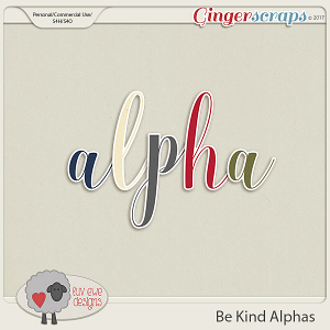 Be Kind Alphas by Luv Ewe Designs