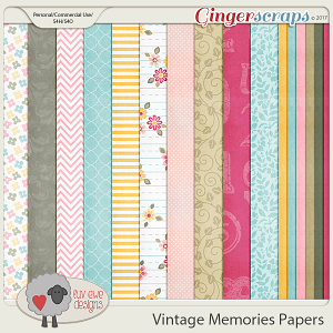 Vintage Memories Papers by Luv Ewe Designs