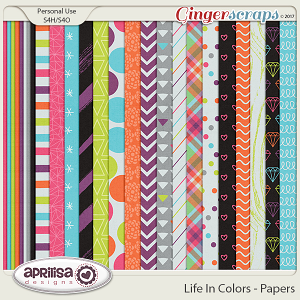 Life In Colors - Papers by Aprilisa Designs