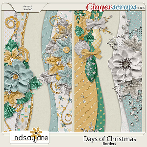 Days of Christmas Borders by Lindsay Jane