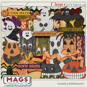 Country Halloween Elements by MagsGraphics