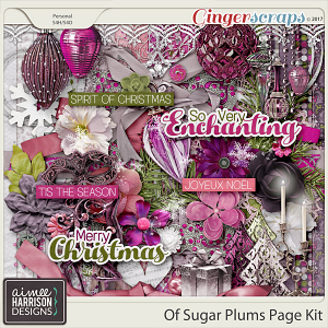 Of Sugar Plums Page Kit by Aimee Harrison