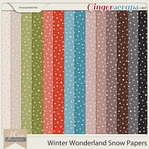 Winter Wonderland Snow Papers by JoCee Designs