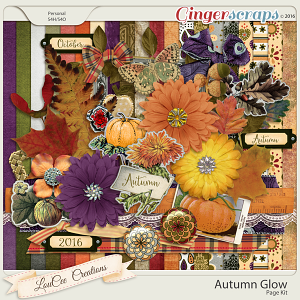 Autumn Glow Page Kit