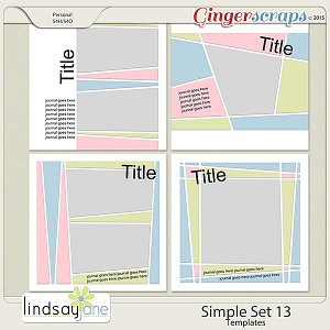 Simple Set 13 Templates by Lindsay Jane