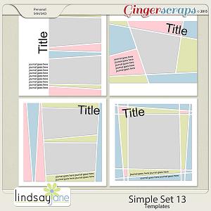 Simple Set 13 Templates by Lindsay Jane