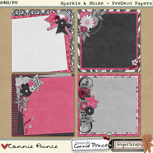 Retiring Soon - Sparkle & Shine - PreDeco Paper Pack