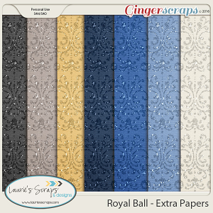 Royal Ball - Glitter Papers
