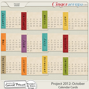 Retiring Soon - Project 2012: October - Calendar Cards