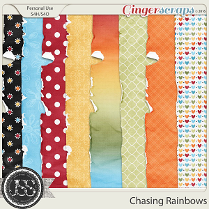 Chasing Rainbows Worn and Torn Papers