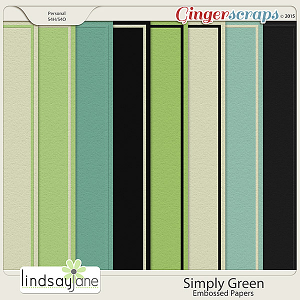 Simply Green Embossed Papers by Lindsay Jane