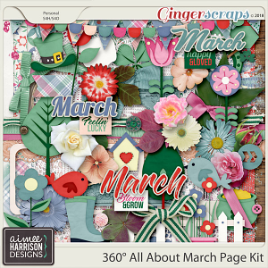 360° All About March Page Kit by Aimee Harrison