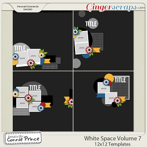 Retiring Soon - White Space Volume 7 - 12x12 Temps (CU Ok)